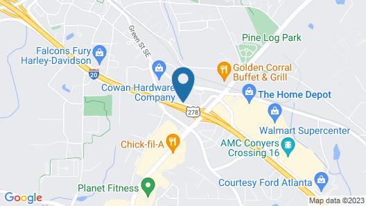 Quality Inn Conyers I-20 Map