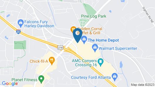 Courtyard Atlanta Conyers Map
