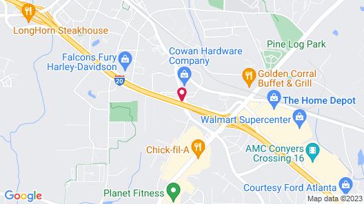Jameson Inn Conyers Map