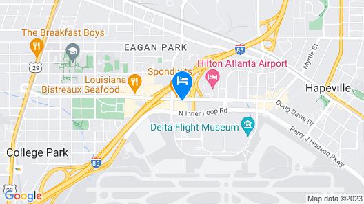 La Quinta Inn & Suites by Wyndham Atlanta Airport North Map