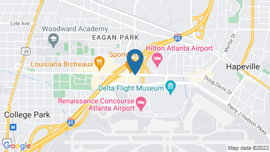 La Quinta Inn & Suites by Wyndham Atlanta Airport North Map