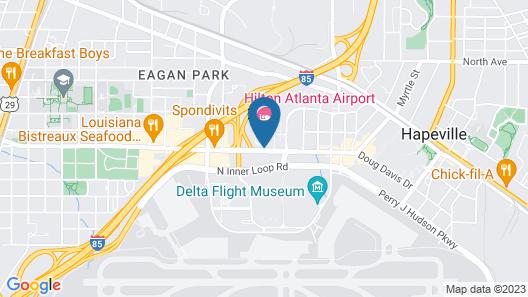 Hilton Atlanta Airport Map