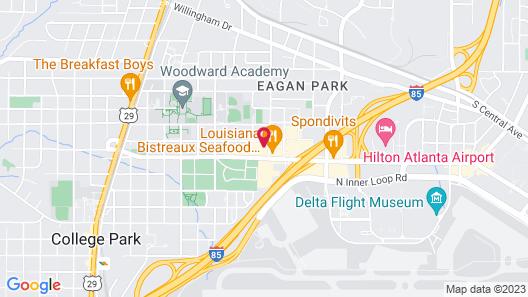 Clarion Hotel Atlanta Airport Map