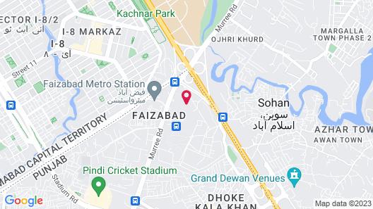 Avari Xpress, Islamabad Expressway Map