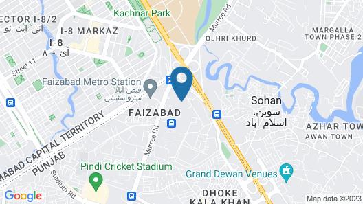 Avari Xpress Islamabad Map
