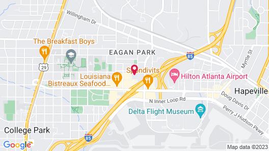 Hilton Garden Inn Atlanta Airport North Map
