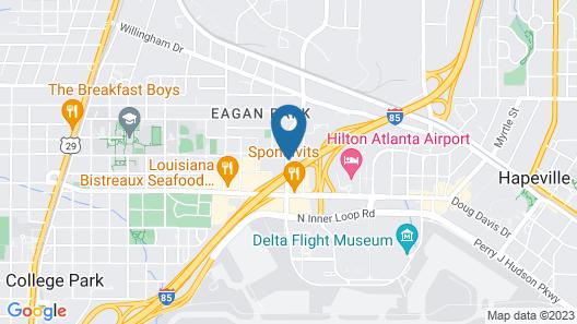 Hampton Inn & Suites Atlanta Airport North I-85 Map