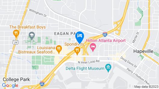 Hyatt Place Atlanta Airport-North Map