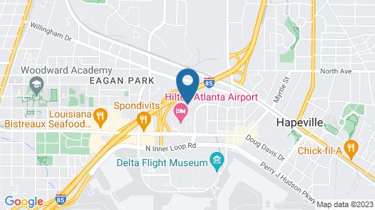 Sonesta Select Atlanta Airport Map