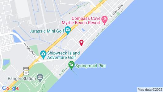 Tropical Seas Hotel Map