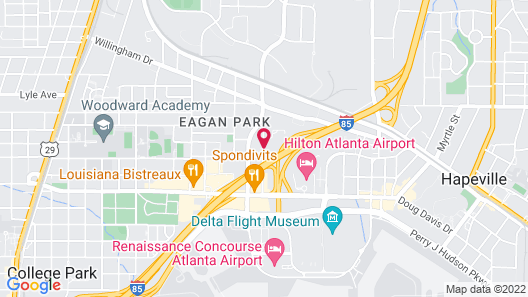 Staybridge Suites Atlanta Airport, an IHG Hotel Map