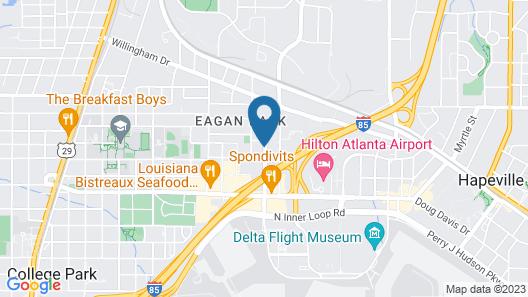 Homewood Suites Atlanta Airport North Map