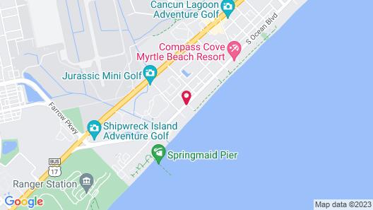 Sea Hawk Motel Map