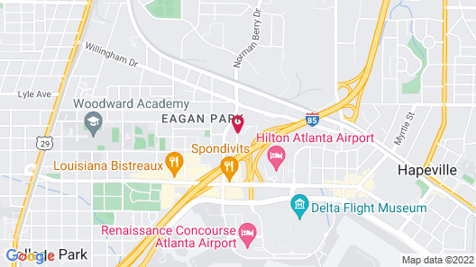 DoubleTree by Hilton Atlanta Airport Map