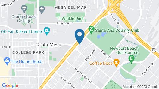 Best Western Plus Newport Mesa Inn Map