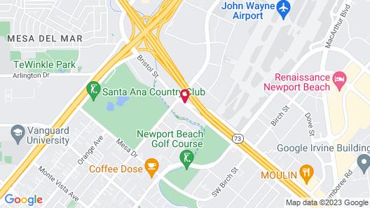 Ayres Hotel Costa Mesa/Newport Beach Map
