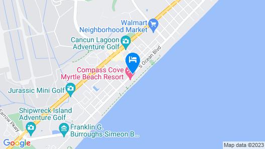 Sandcastle Oceanfront Resort South Beach Map