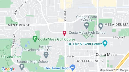 Costa Mesa Inn Map