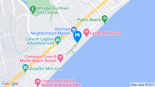 Hampton Inn & Suites Myrtle Beach Map