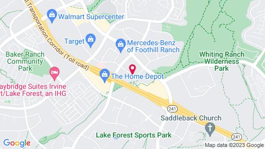 Hampton Inn Irvine East - Lake Forest Map