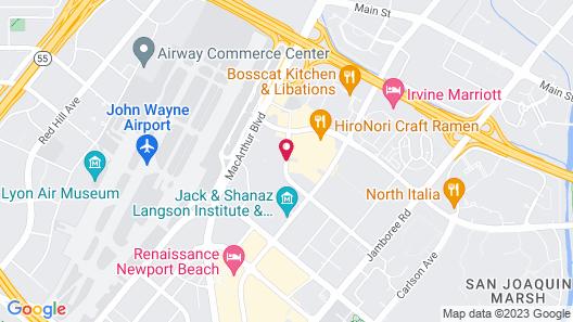 Hampton Inn & Suites by Hilton-Irvine/Orange County Airport Map