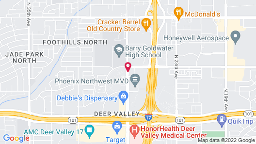 Extended Stay America Phoenix - Deer Valley Map