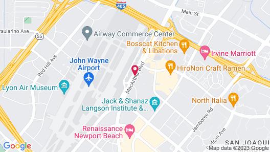 Atrium Hotel at Orange County Airport Map