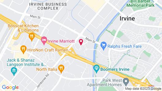 Hotel Irvine Map
