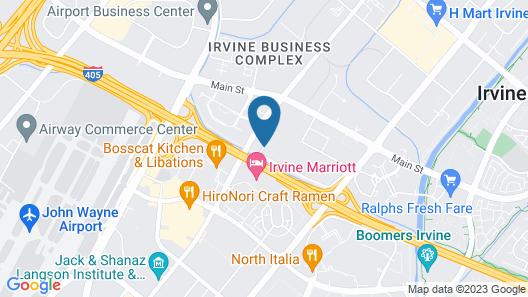 Hilton Garden Inn Irvine / Orange County Airport Map