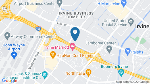 Hilton Garden Inn Irvine/Orange County Airport Map