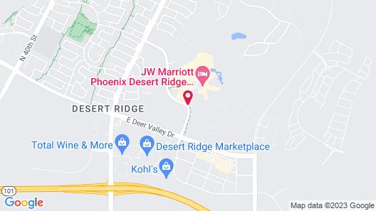 JW Marriott Phoenix Desert Ridge Resort & Spa Map