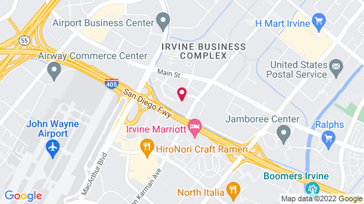 Sonesta Irvine - Orange County Airport Map