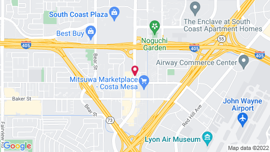 Hilton Orange County/Costa Mesa Map