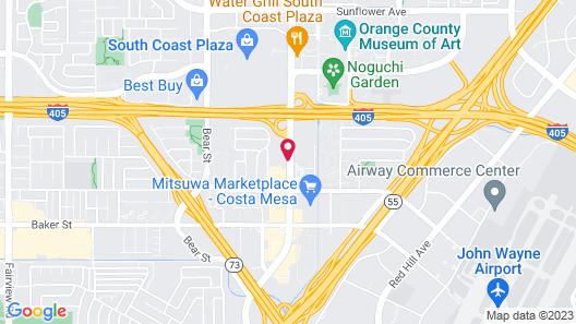 Crowne Plaza Costa Mesa Orange County, an IHG Hotel Map