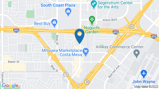 Crowne Plaza Costa Mesa Orange County, an IHG Hotel Map