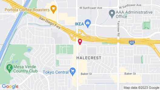 Motel 6 Costa Mesa, CA Map