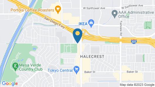 Vagabond Inn Costa Mesa Map