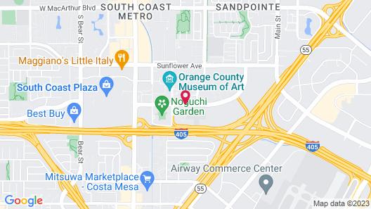 Costa Mesa Marriott Map