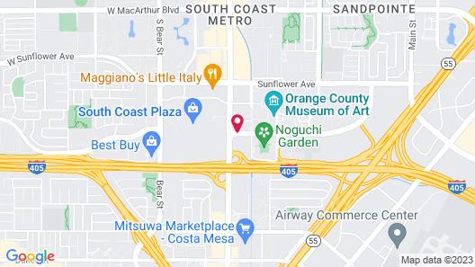 The Westin South Coast Plaza, Costa Mesa Map