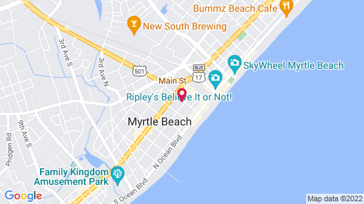 Hotel O Myrtle Beach Boardwalk Map