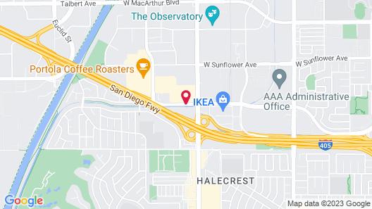 La Quinta Inn by Wyndham Costa Mesa Orange County Map