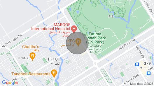 1 BHK F10 Markaz Netflix wifi comfortable living Map