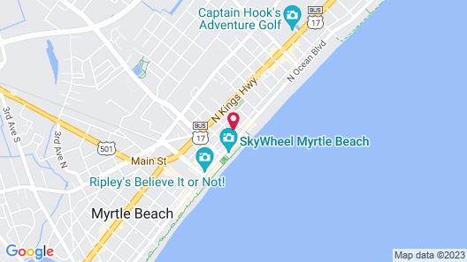 Aqua Beach Inn Map
