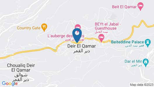 Hôtel La Bastide Deir El Qamar Map