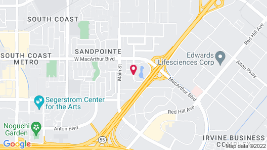 DoubleTree by Hilton Orange County Airport Map