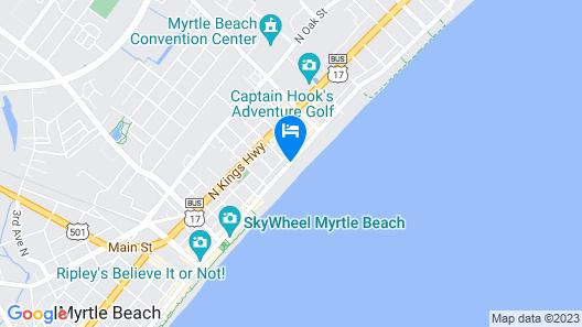 Sandcastle Oceanfront Resort at the Pavilion Map