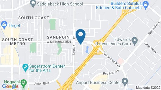 Courtyard by Marriott Santa Ana Orange County Map