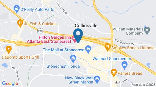 Comfort Suites Lithonia- Stonecrest -Near Mall Map