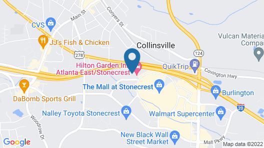 Fairfield Inn & Suites by Marriott Atlanta Stonecrest Map