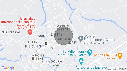 Margalla Guest House Islamabad Map